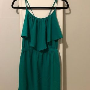 AEO Teal Layered Dress